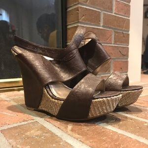 Brown Charlotte Russe Size 8 Wedges